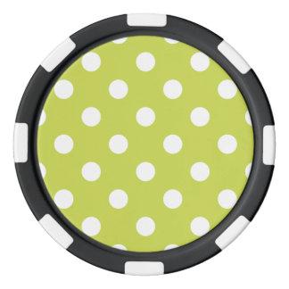 Green Polka Dot Pattern Poker Chips