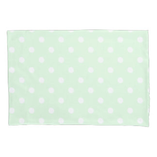 Green Polka Dot Pillowcase