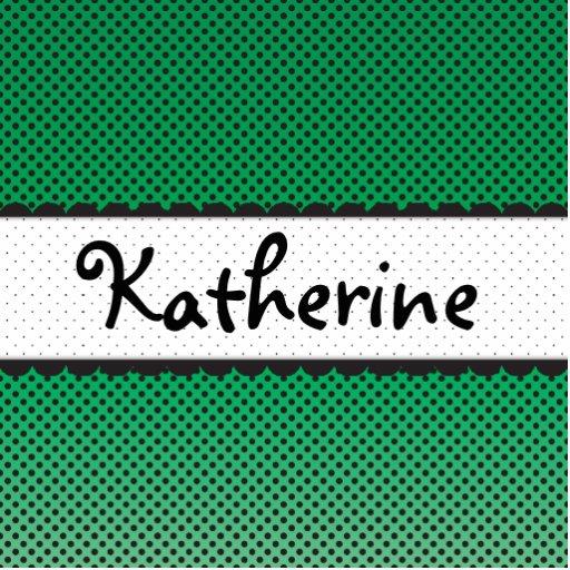 Green Polka Dot Scallops Personalized Name Photo Cutout