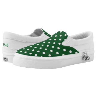 Green Polka Dot Slip-On Sneakers