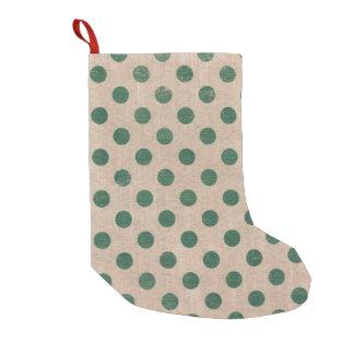 green polka dot stylish holiday christmas stocking