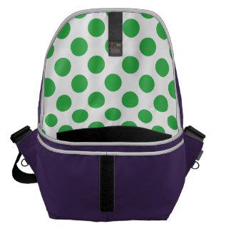 Green Polka Dots Commuter Bag