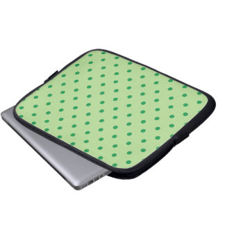 Green Polka Dots Computer Sleeves