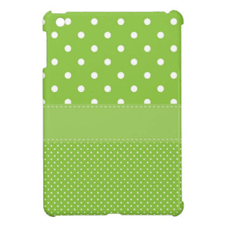 Green Polka-dots Cover For The iPad Mini