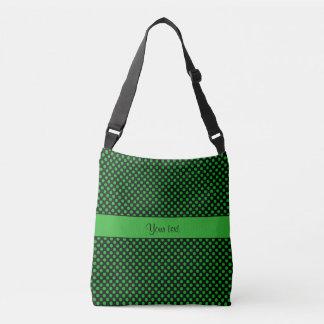 Green Polka Dots Crossbody Bag