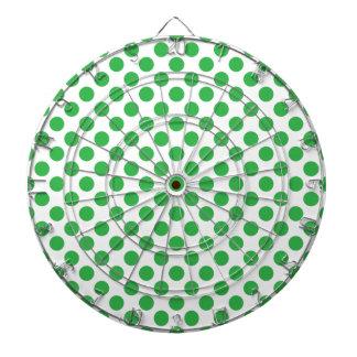 Green Polka Dots Dartboard