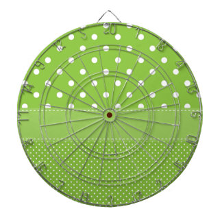 Green Polka-dots Dartboard With Darts