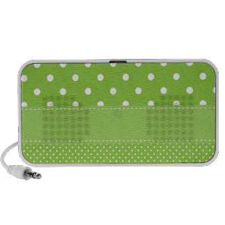 Green Polka Dots Delicate Bridal or Baby Shower Notebook Speaker