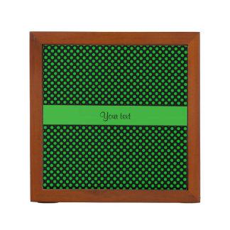 Green Polka Dots Desk Organizer