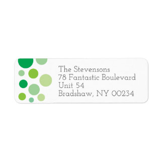 Green Polka Dots Family Return Address