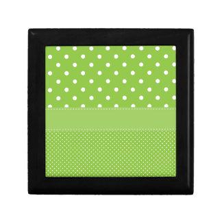 Green Polka-dots Gift Box