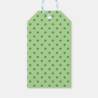 Green Polka Dots Gift Tags