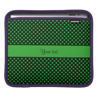 Green Polka Dots iPad Sleeve
