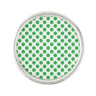 Green Polka Dots Lapel Pin