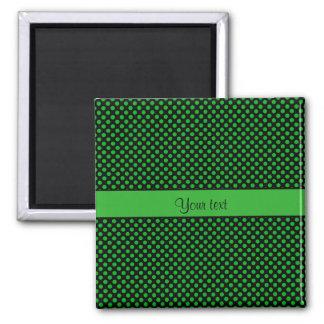 Green Polka Dots Magnet