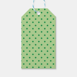 Green Polka Dots Pack Of Gift Tags