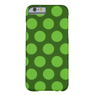 green polka dots pattern barely there iPhone 6 case