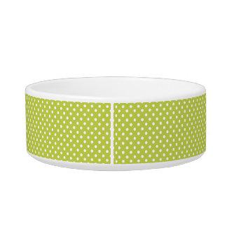 Green Polka Dots Pattern Bowl