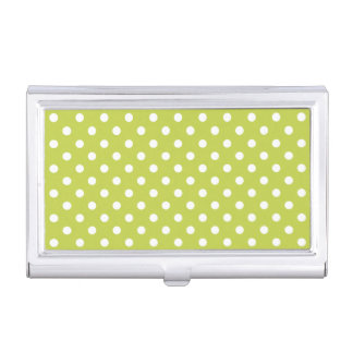 Green Polka Dots Pattern Case For Business Cards