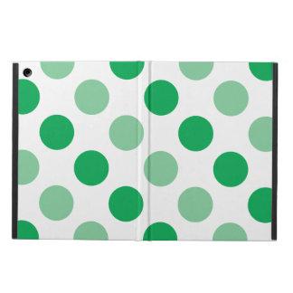 Green polka dots pattern case for iPad air
