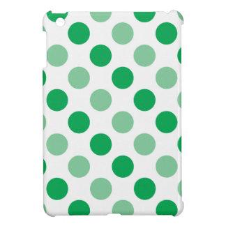 Green polka dots pattern case for the iPad mini