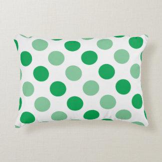 Green polka dots pattern decorative pillow