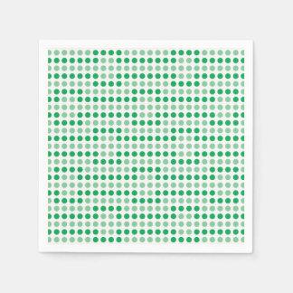 Green polka dots pattern disposable napkin
