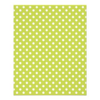 Green Polka Dots Pattern Flyer