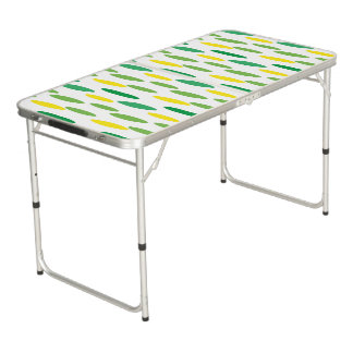 green polka dots pattern for party beer pong table