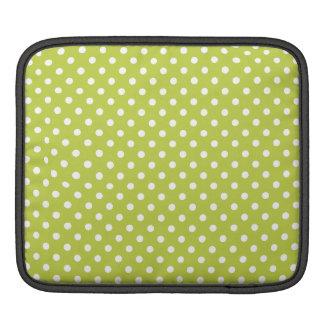 Green Polka Dots Pattern iPad Sleeves