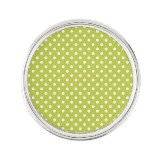 Green Polka Dots Pattern Lapel Pin