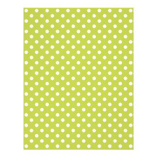 Green Polka Dots Pattern Letterhead