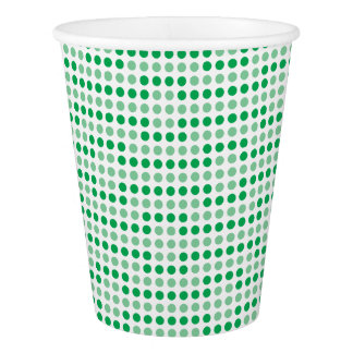 Green polka dots pattern paper cup