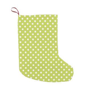 Green Polka Dots Pattern Small Christmas Stocking