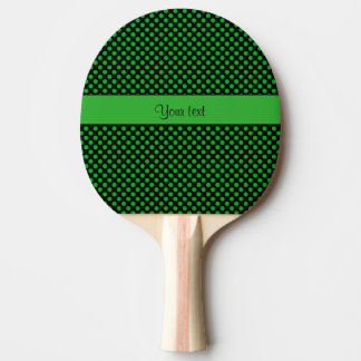 Green Polka Dots Ping Pong Paddle