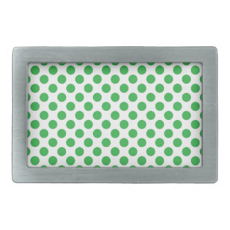Green Polka Dots Rectangular Belt Buckles