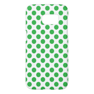 Green Polka Dots Samsung Galaxy S7 Case