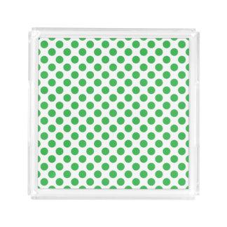 Green Polka Dots Serving Tray