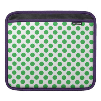 Green Polka Dots Sleeve For iPads