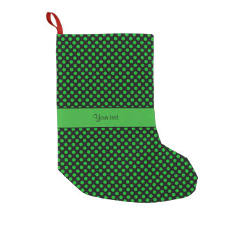 Green Polka Dots Small Christmas Stocking