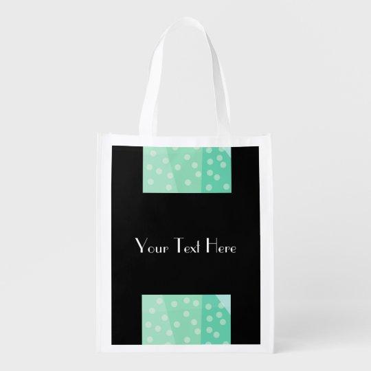 Green Polka Dots & Spots Reusable Bag