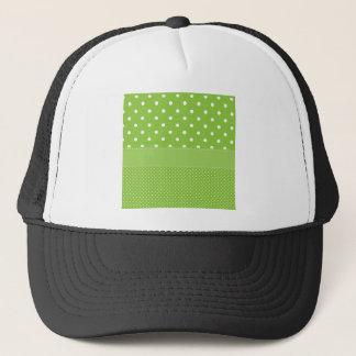 Green Polka-dots Trucker Hat