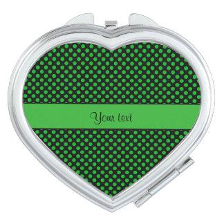 Green Polka Dots Vanity Mirrors