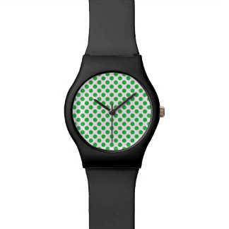 Green Polka Dots Watch