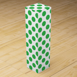 Green Polka Dots Wine Gift Box
