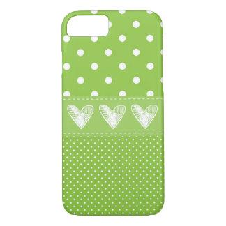 Green Polka Love iPhone 7 iPhone 8/7 Case