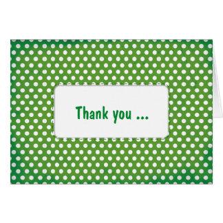 Green Polkadot Greeting Card