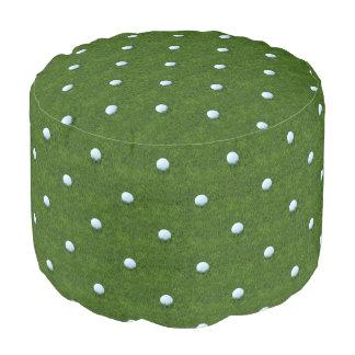 Green Polkadot Golf Ball Pattern Pouf