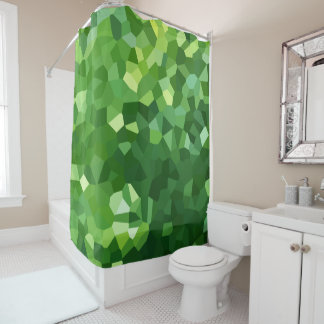 Green Polygon Shape Stained Glass Mosaic Abstract