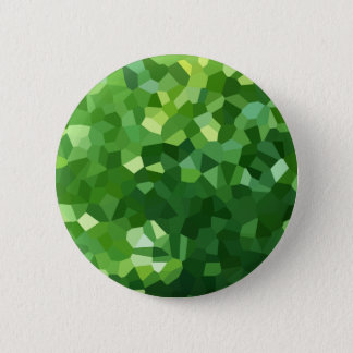 Green Polygon Shape Stained Glass Mosaic Abstract 2 Inch Round Button